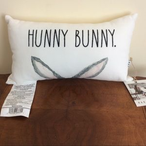 Rae Dunn HUNNY BUNNY Decorative Pillow